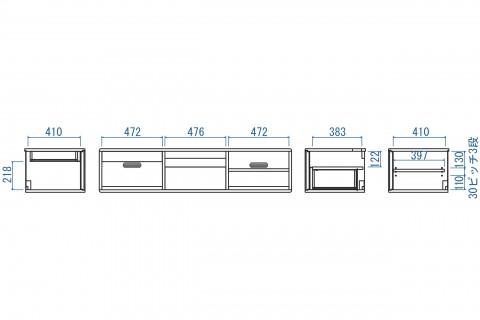 リーベTVボード150(本体+脚)
