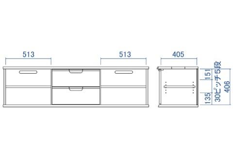 D-oak TVボード165H