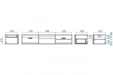 リーベTVボード180(本体+脚)