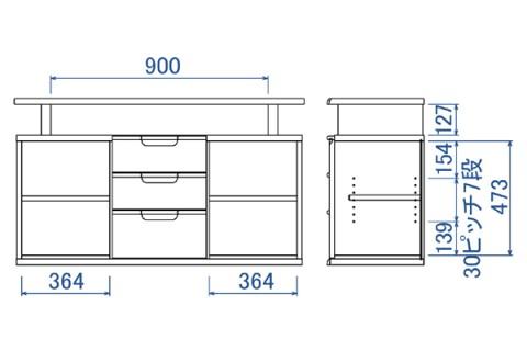 D-oak サイドボード120