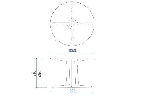 OR-02 円形テーブル